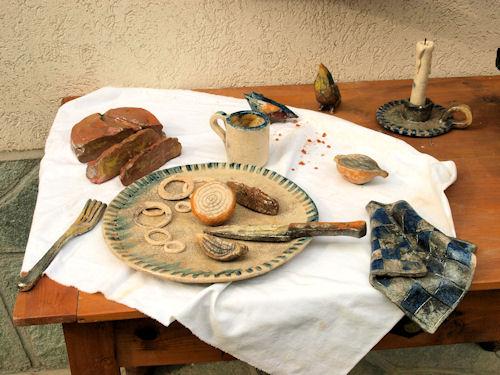 giuliana cusino   pan e siole   tavola imbandita particolare   2008